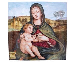 Ceramica artistica su ceramica pannello 40x40 cm inedito raffaello