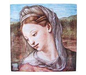 Ceramic art on 40x40 cm panel cm raffaello