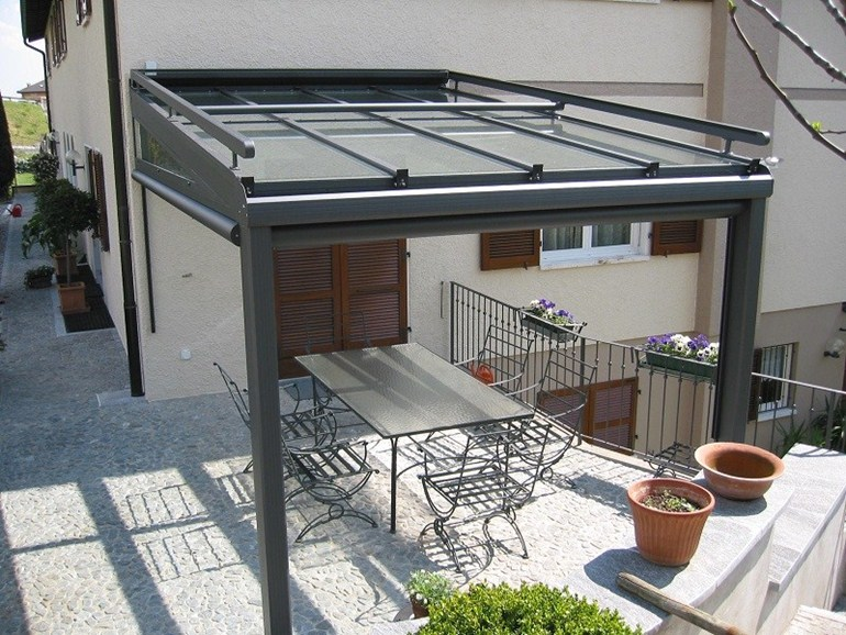 Beautiful Tettoie Per Terrazzi In Alluminio Contemporary - Design ...