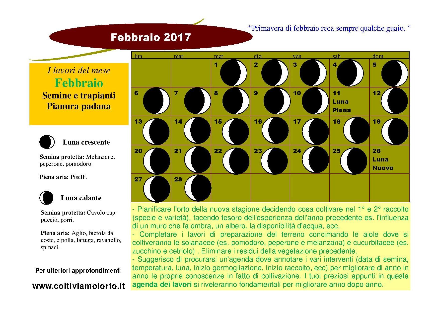 Coltiviamo l 39 orto for Cosa seminare a febbraio