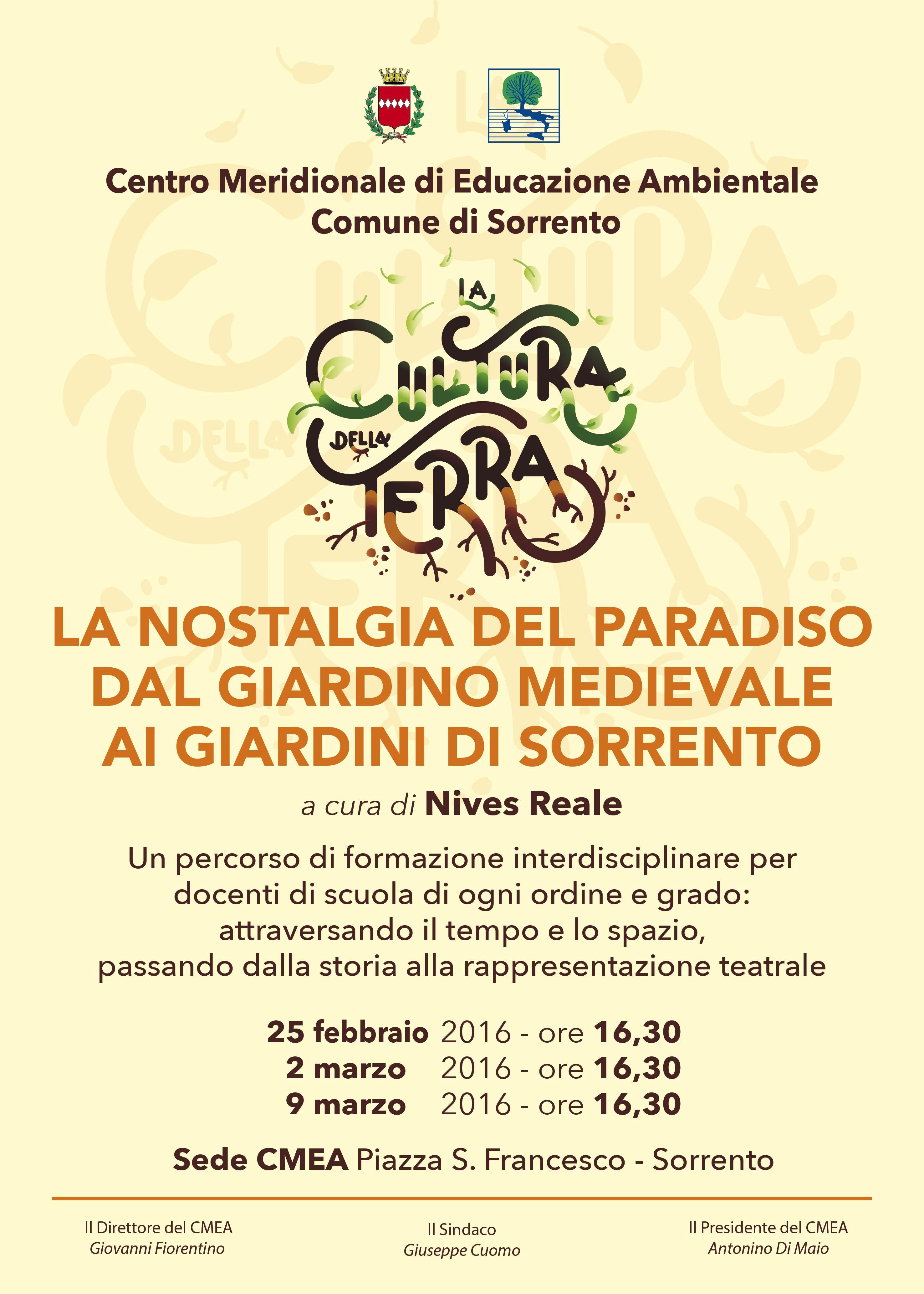Gioved¬ 25 febbraio 2016 si apre il ciclo di lezioni dedicato ai giardini di Sorrento ideato e curato da Nives Reale