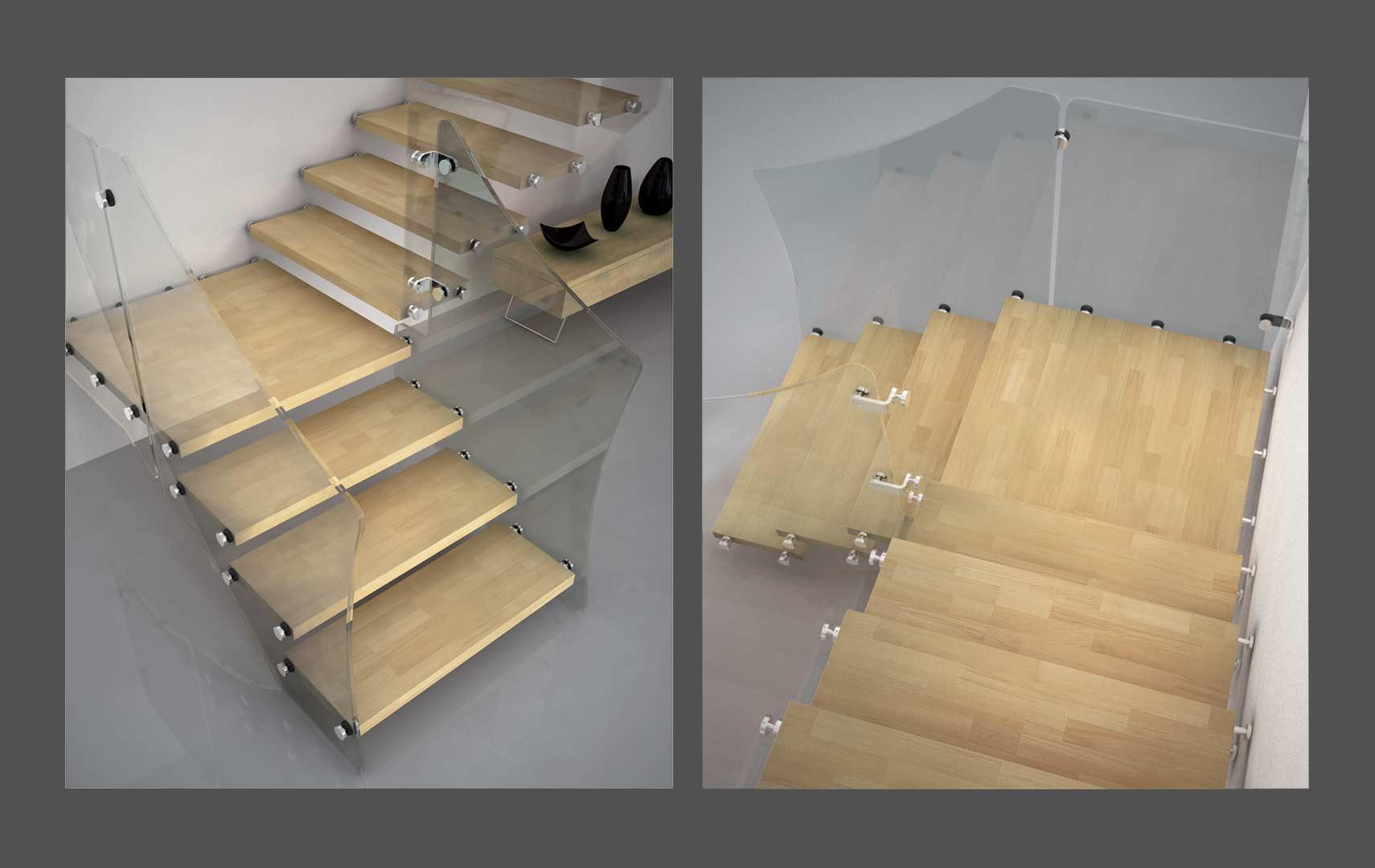 Casaloft scale interne a giorno for Scala interna in legno
