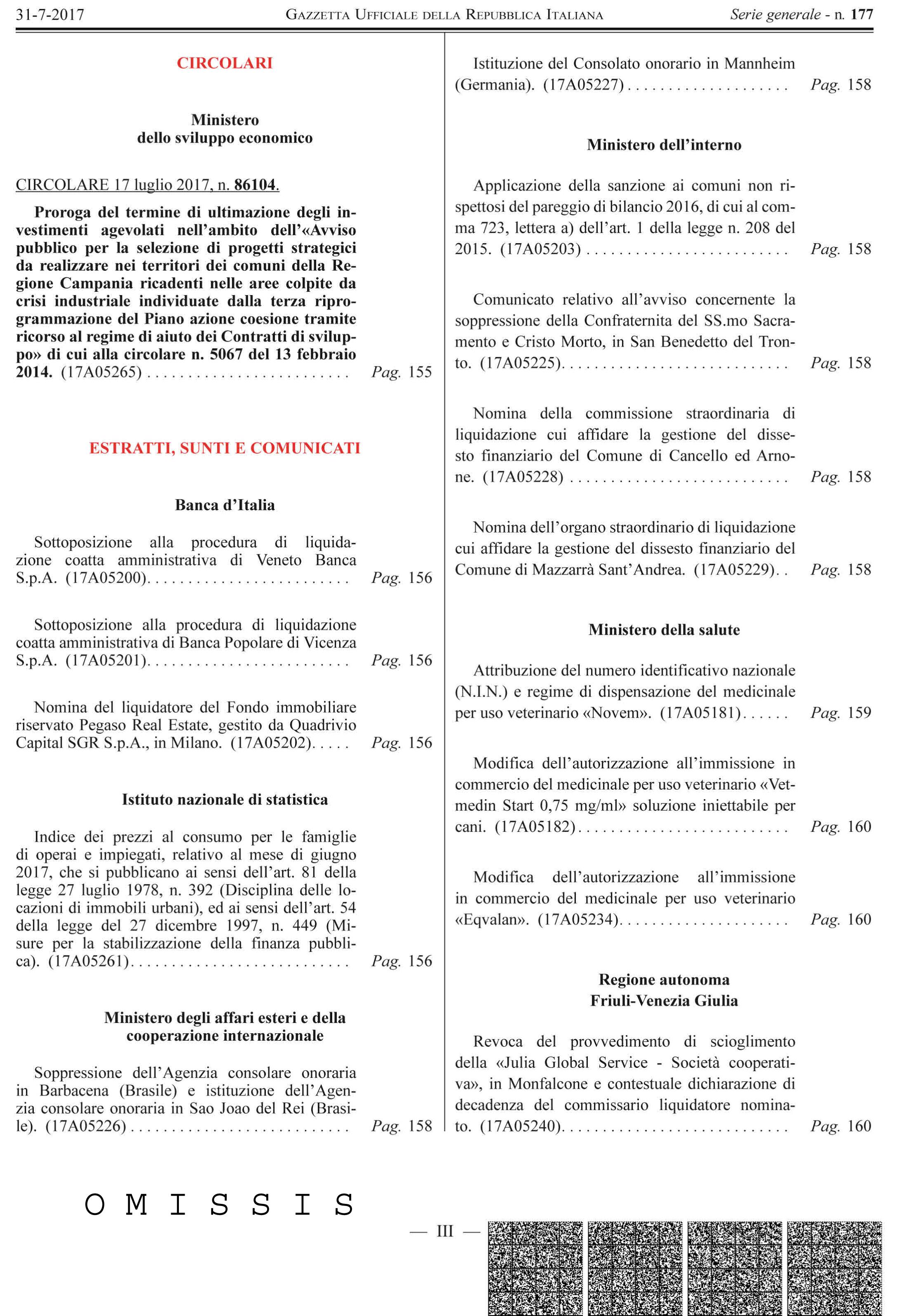 Documentazione per procedere alla presentazione della domanda di insinuazione nelle procedure di liquidazione coatta amministrativa delle due banche venete