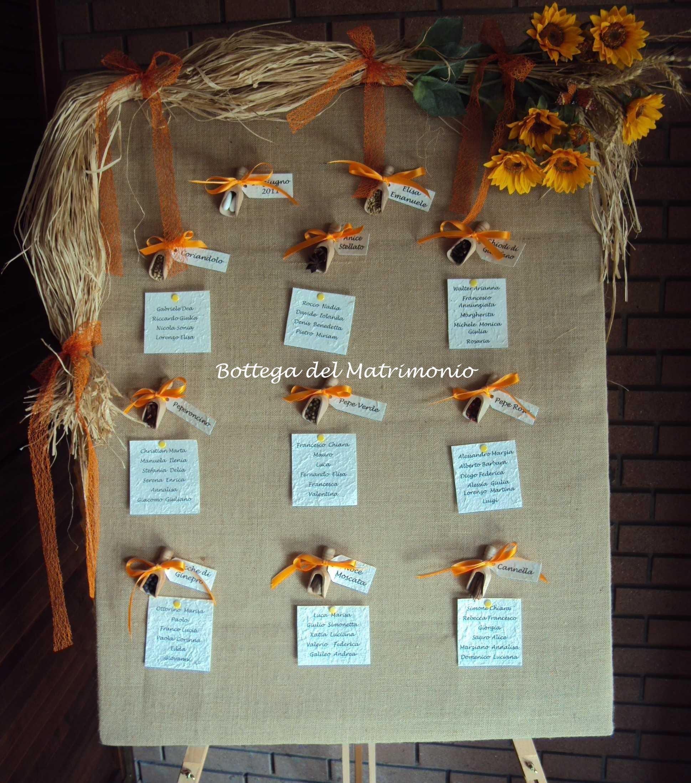 Segnaposto Matrimonio Girasoli : Tableau mariage