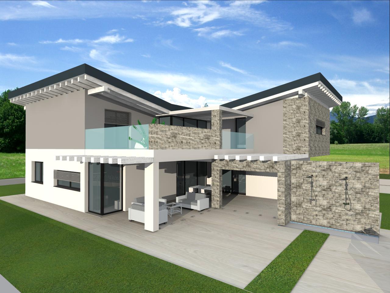 Progetti di architettura for Progetto ville moderne nuova costruzione