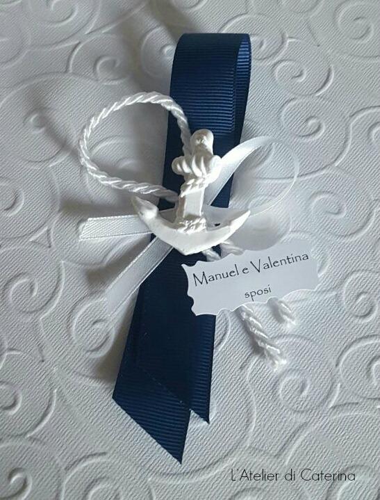 Segnaposto Matrimonio Blu.Segnaposto Matrimonio