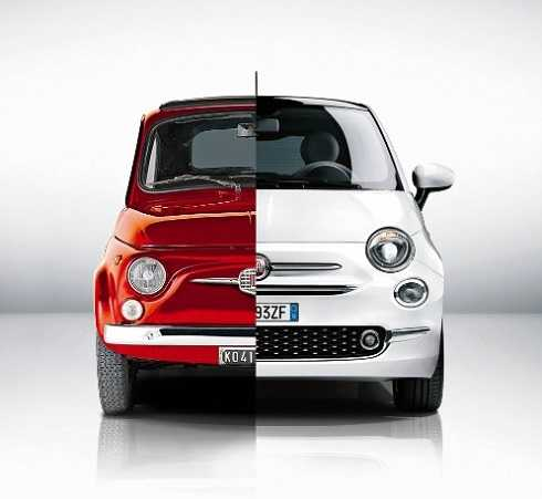 FIAT 500 CLASSIC AND ACTUAL