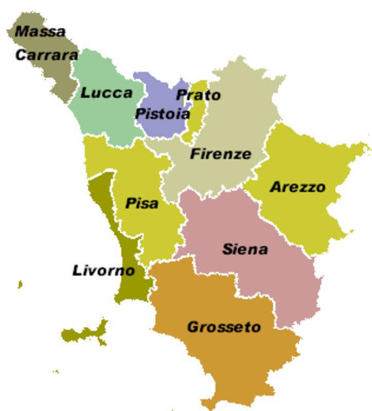 Cartina Regione Toscana Con Province.Smaltimento Rifiuti Speciali
