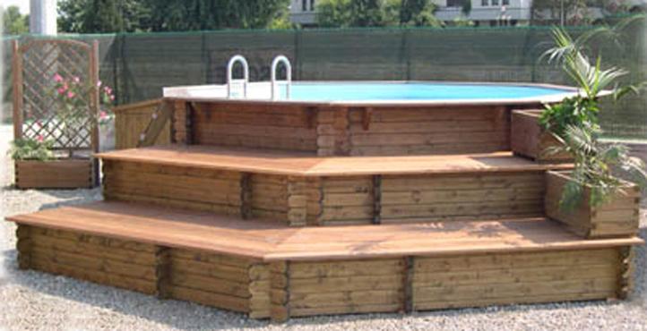 Solarium e pavimentazioni per piscine in legno zauner - Gradoni giardino ...