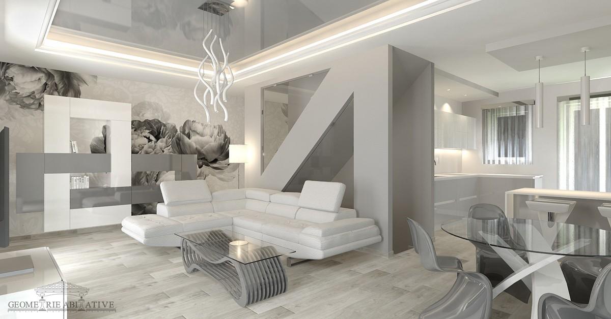 Progetto arredamento casa vivere in mq with progetto for Arredamento liberty moderno