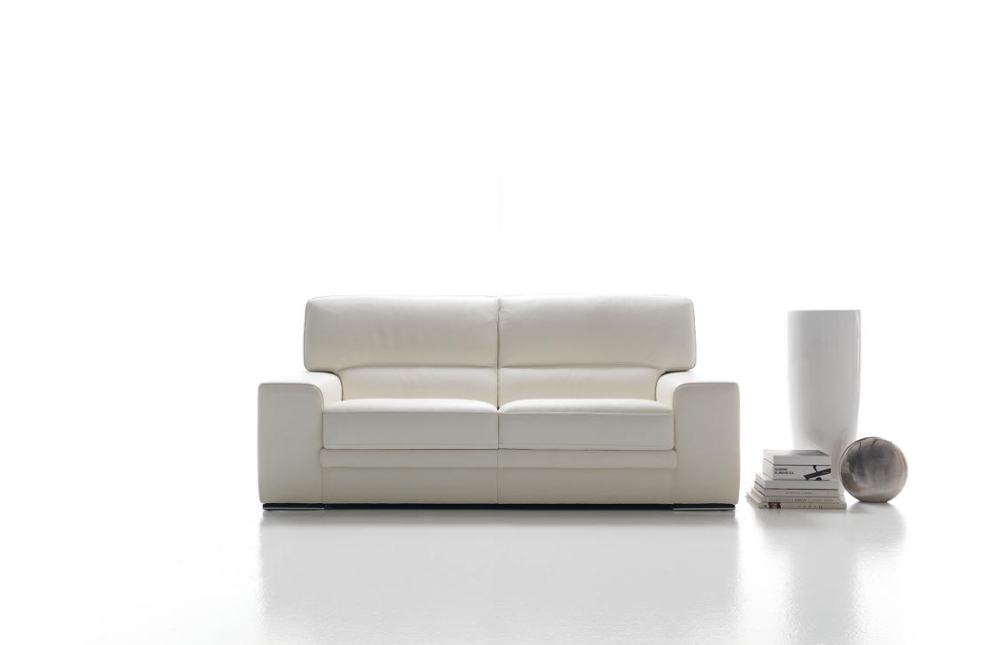 divano rosini divano letto moderno colore bianco ghiaccio sfoderabile ...