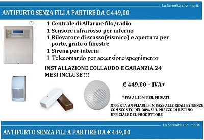 Securhouse Offerta Sydra 64 Senza Fili Via Radio Wireless