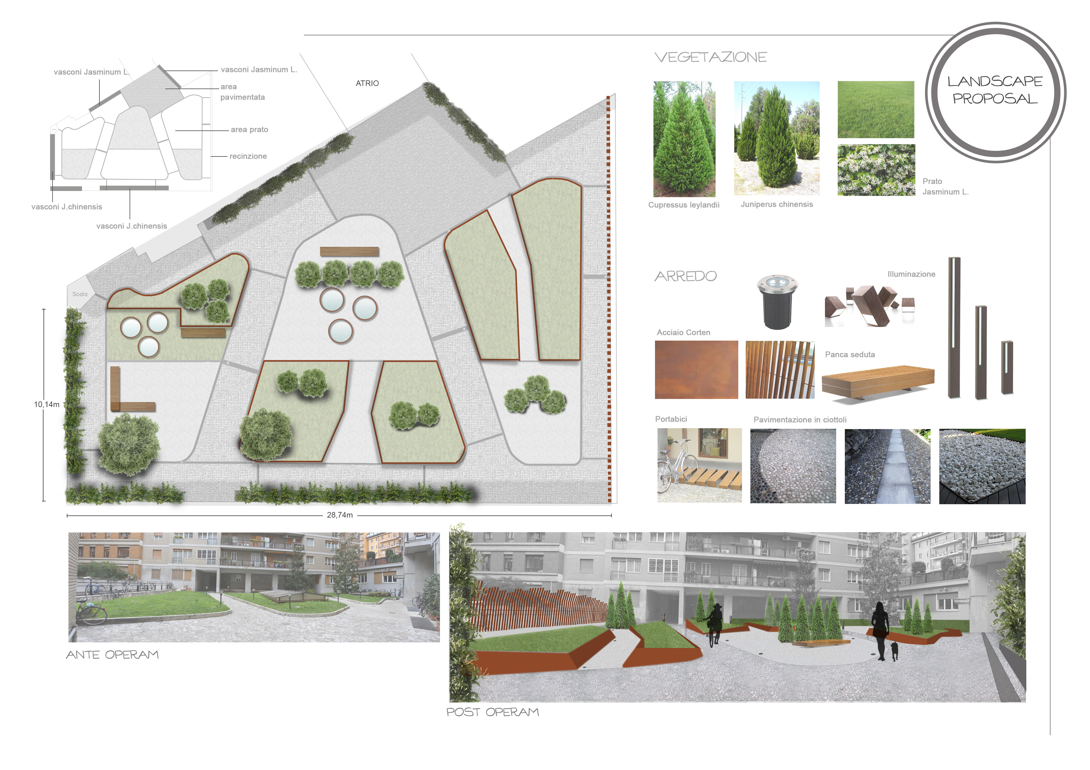Paesaggio architettura e design for Progetto di un giardino