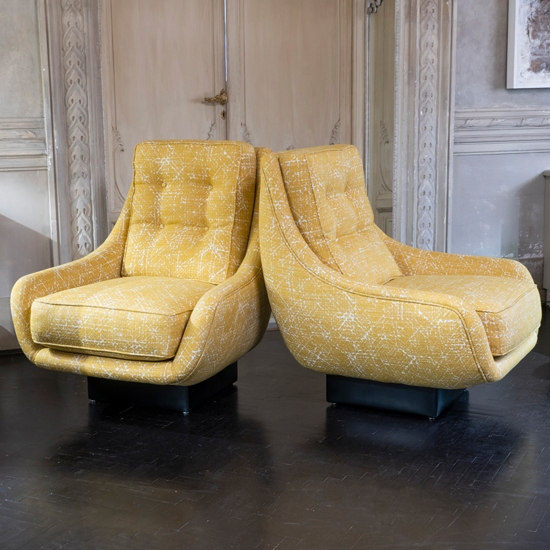 Flair Edition Pair of Contemporary Armchairs