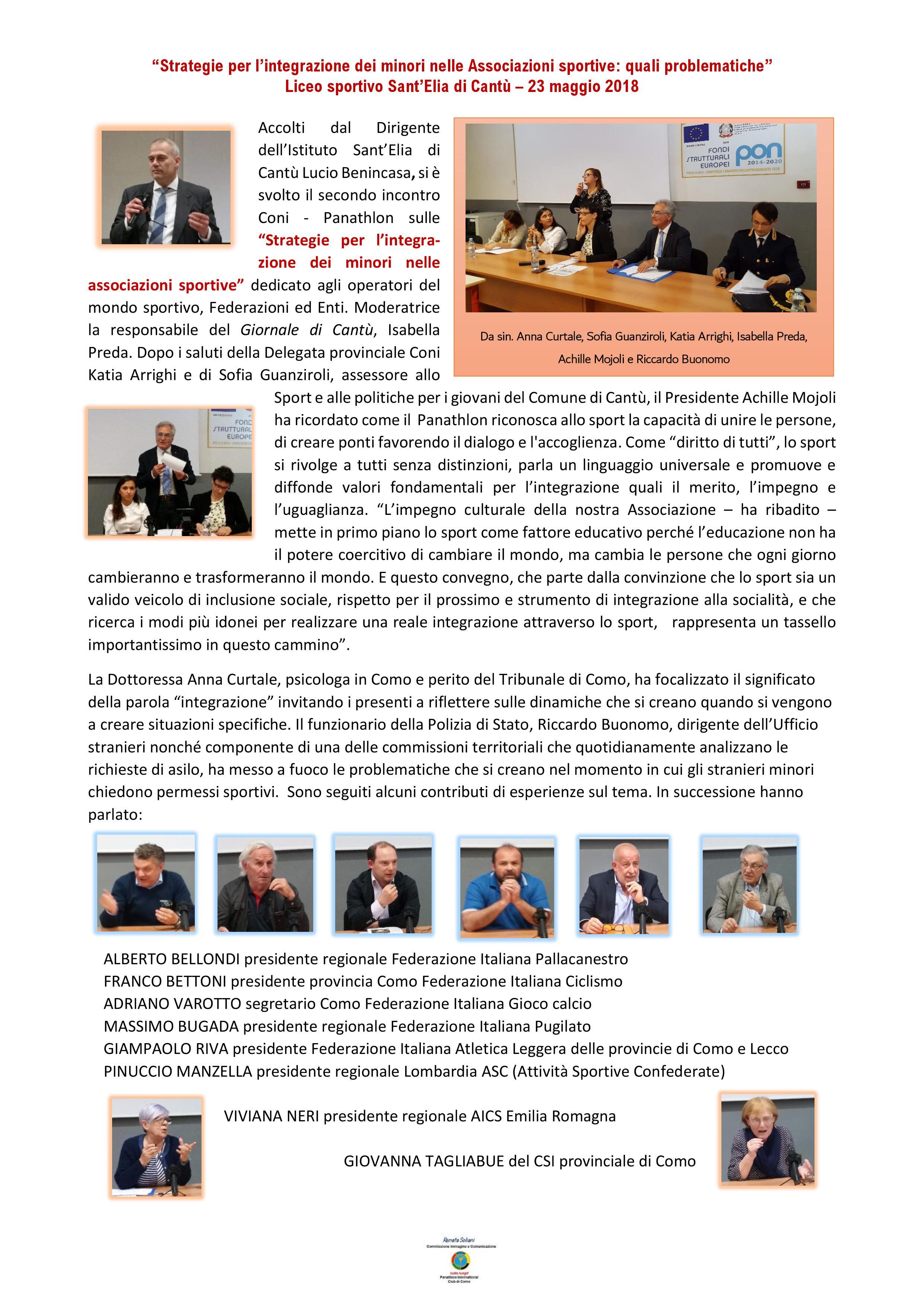 Csi Varese Calendario 2020.Panathlon Como