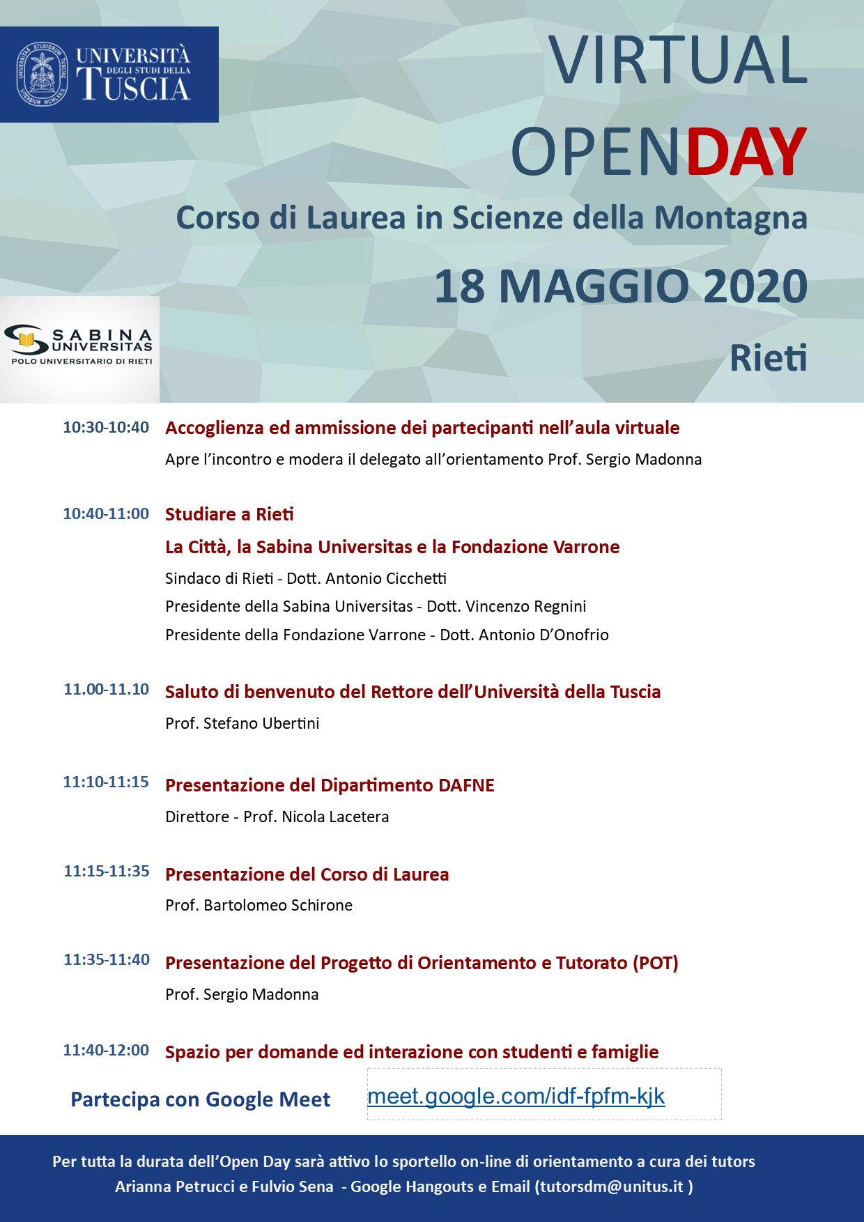 UNITUS - Virtual Open Day - Programma Rieti 18052020png