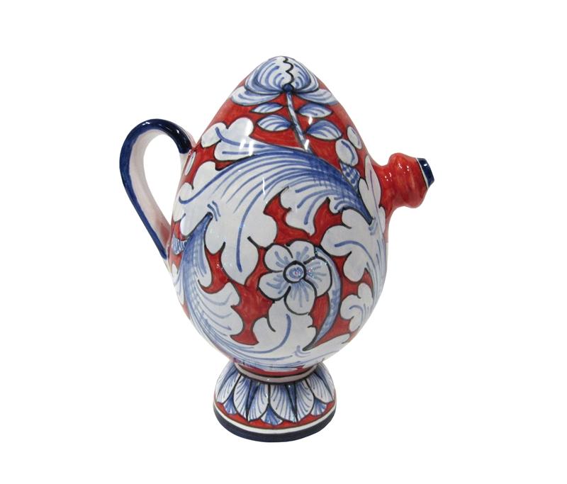 bummulo mezzo litro decoro ornato rosso blu