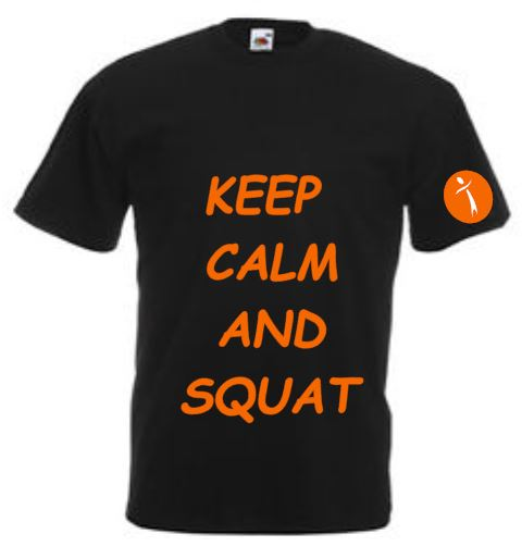 T-shirt Keep Calm and Squat
