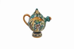 bomboniera verde ceramica