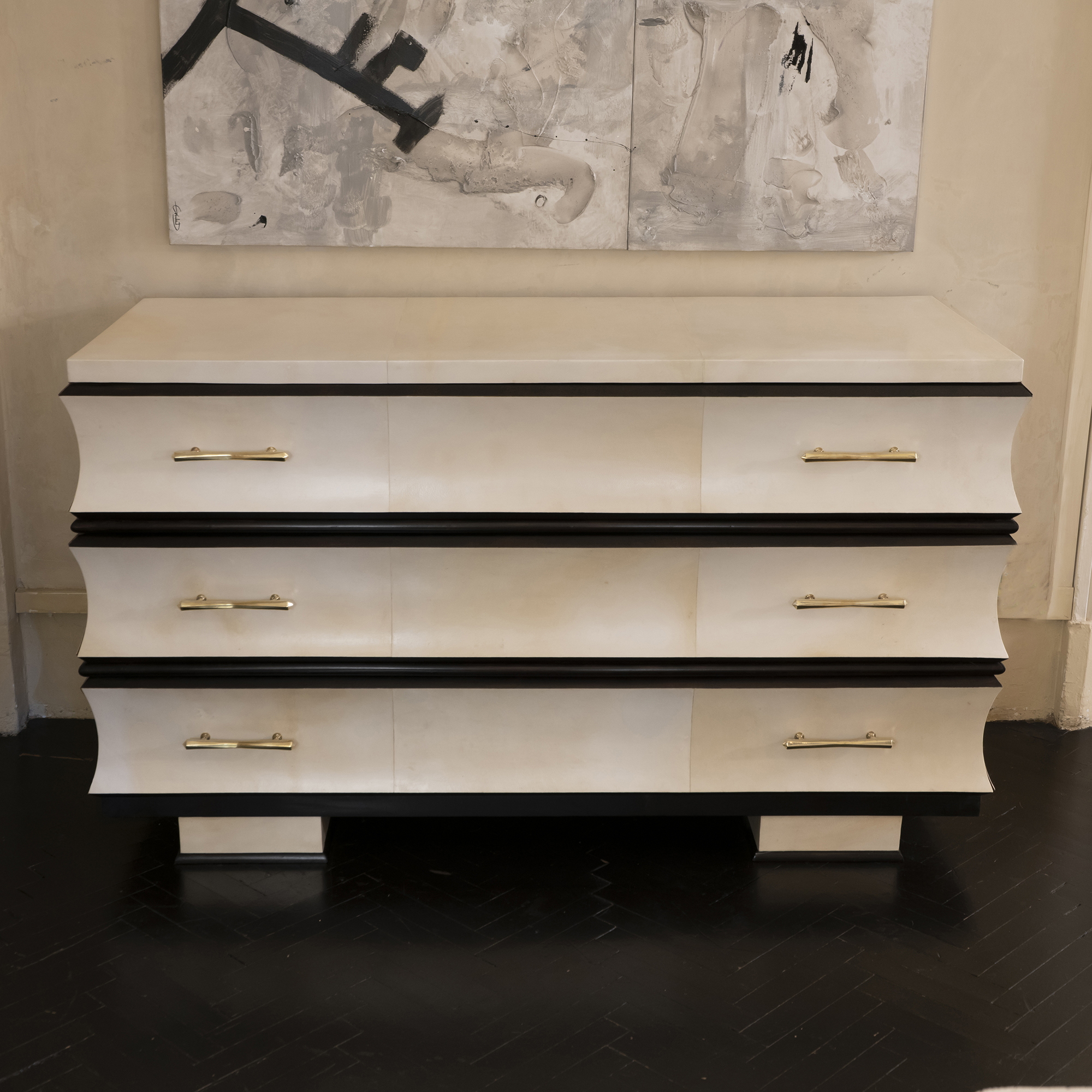1950s Italian Chest of Drawers in Parchment
