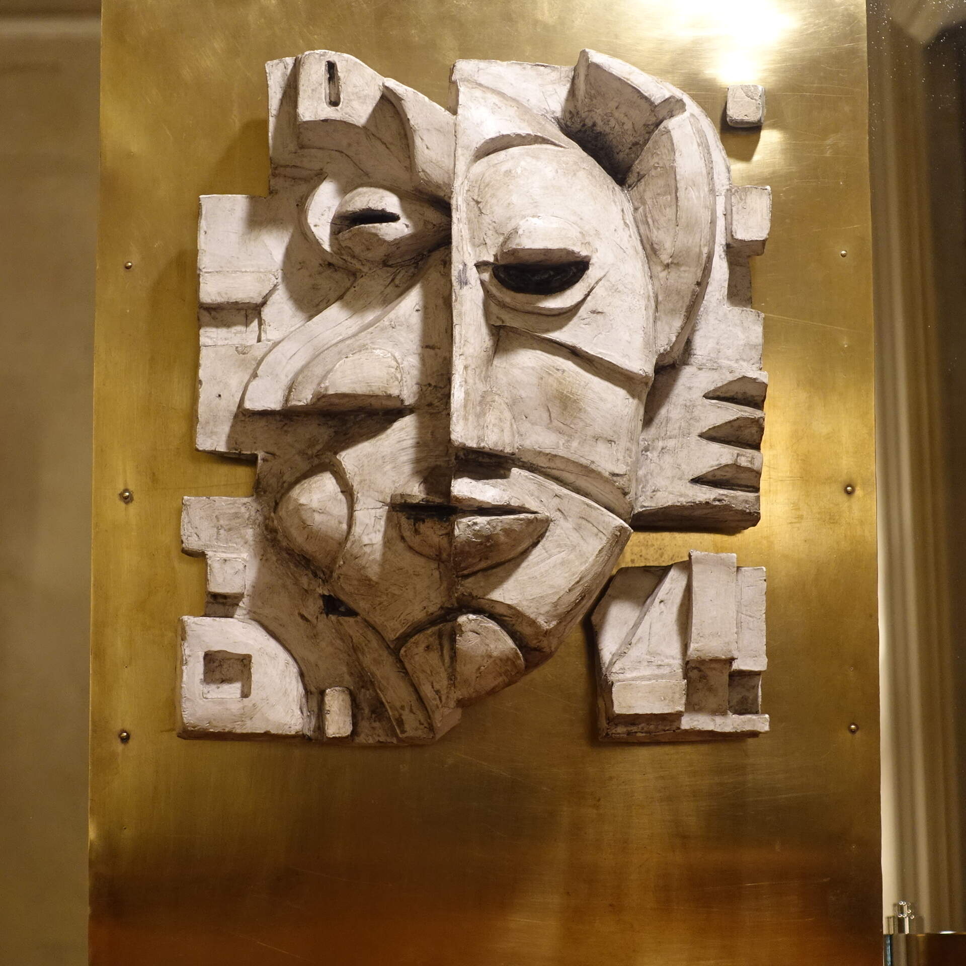 Figurative Cubist Style Female Plaster Artwork