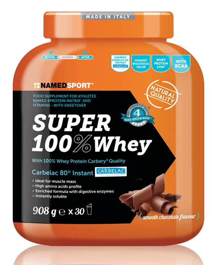 Super 100% Whey 908 gr - Smooth Chocolate Flavour