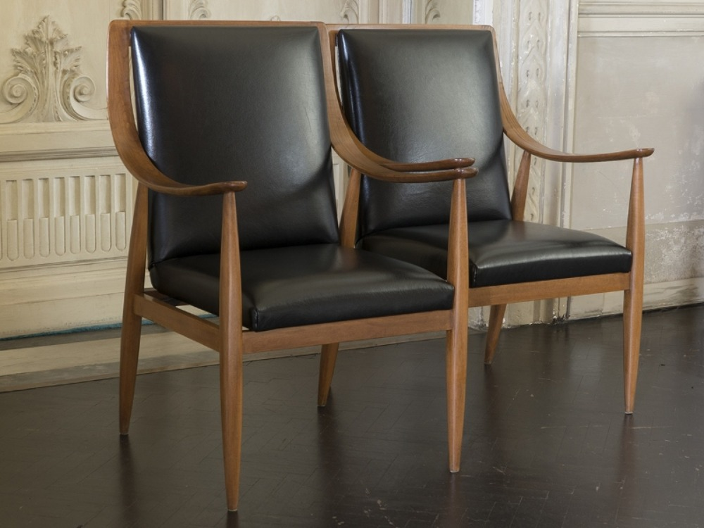 1950s Italian Set of 2 Silvio Cavatorta Chairs