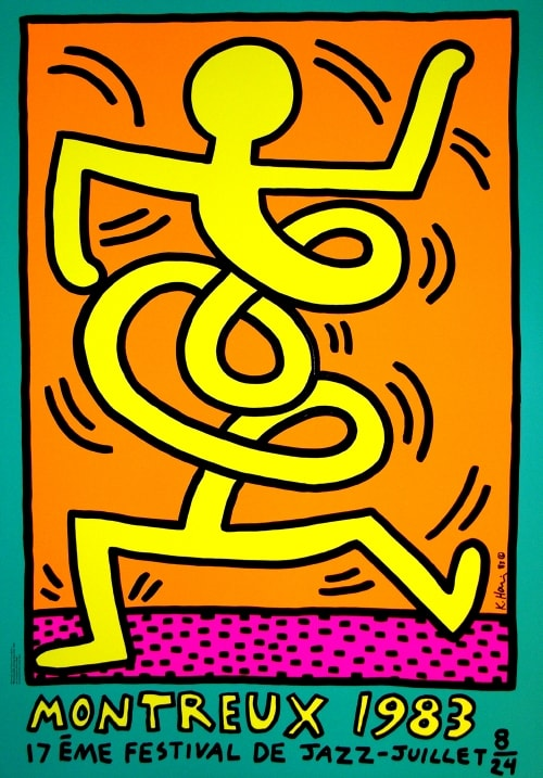 MONTREUX JAZZ FESTIVAL 1983 YELLOW - KEITH HARINGjpg