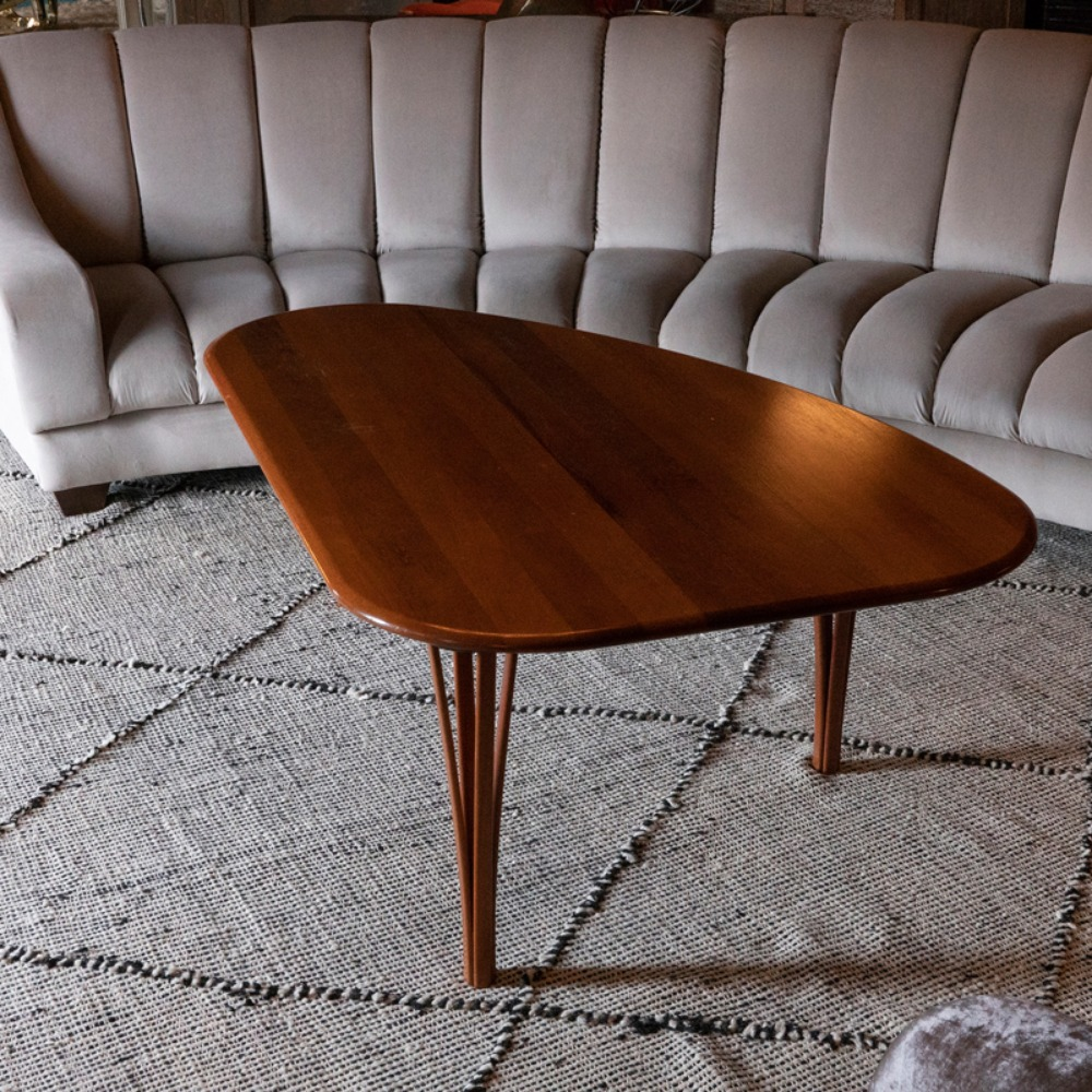 1950s Triangular Coffee Table Denmark