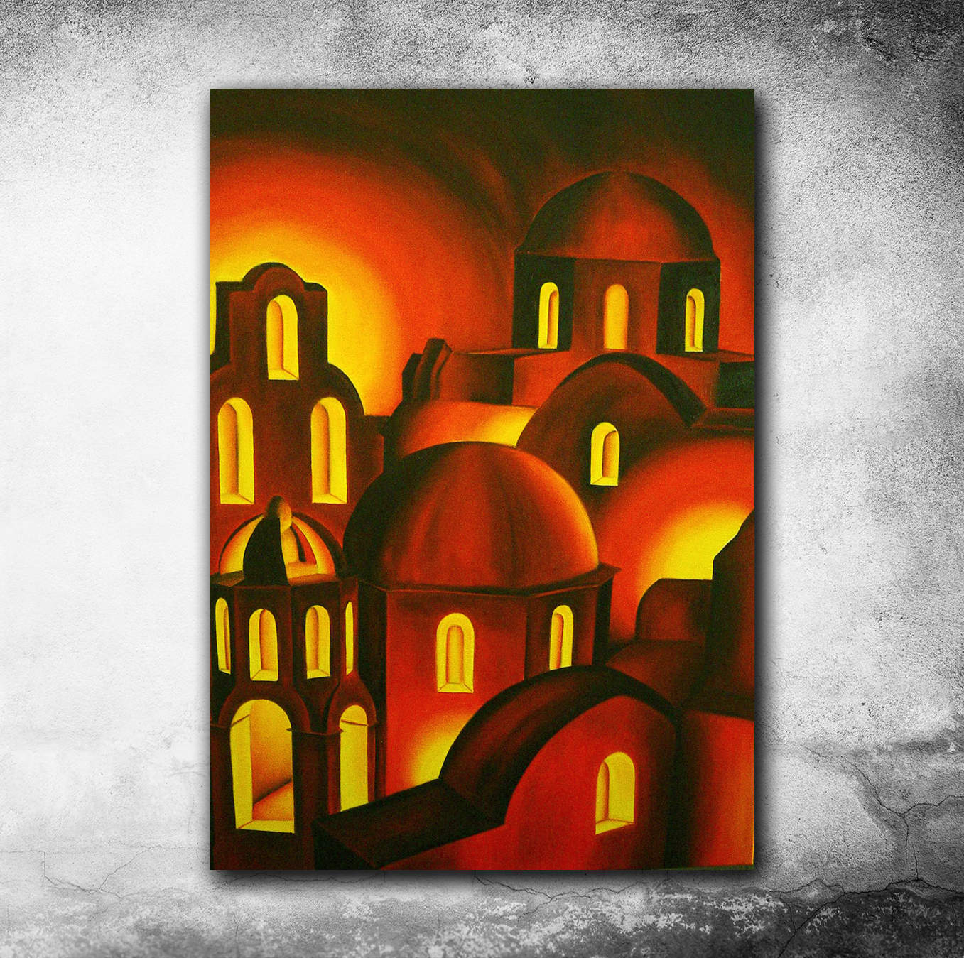 Suggestioni greche - oil on canvas - cm 70x50