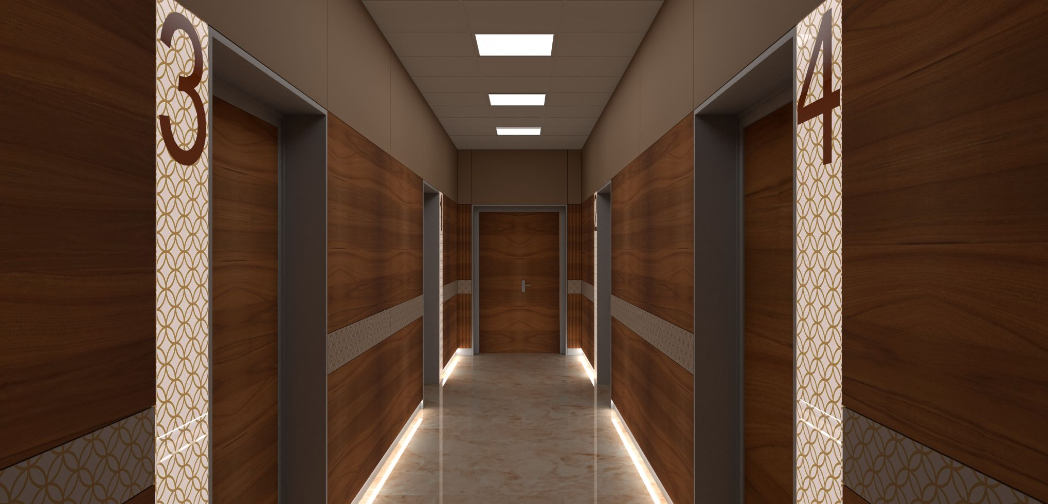 Patients rooms corridor