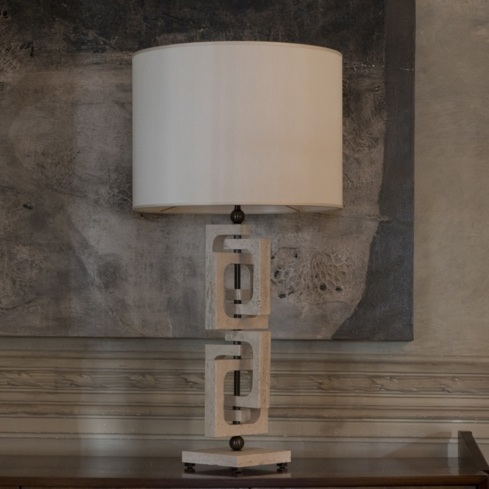 Tall Travertine Lamp