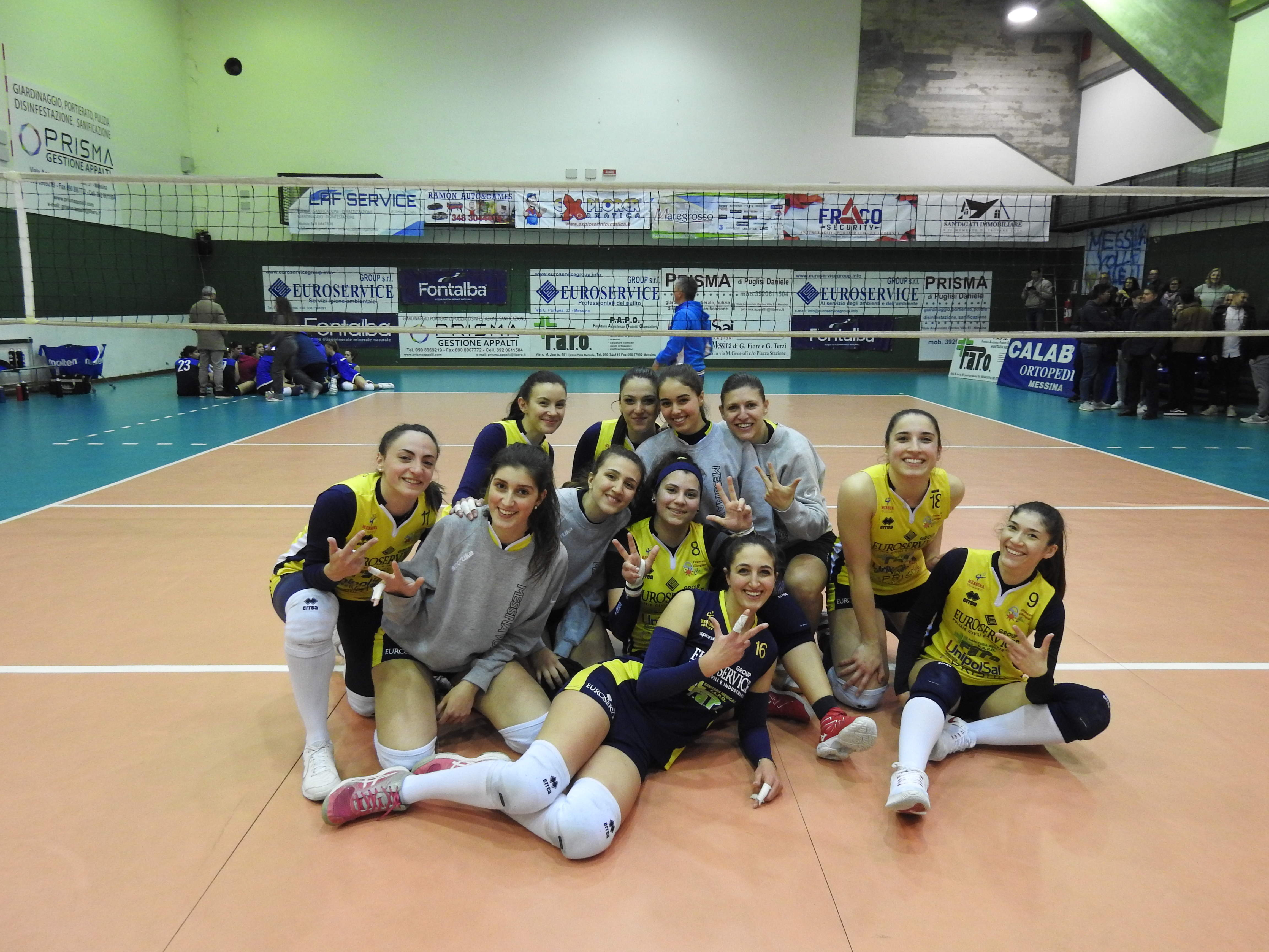 La capolista Messina Volley supera in casa la Polisportiva Nino Romano per 3-1