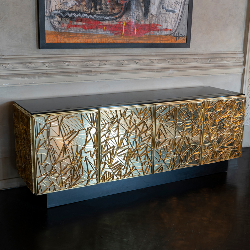 "Flair Edition ""Nest"" Natural Brass Sideboard, Italy 2019"