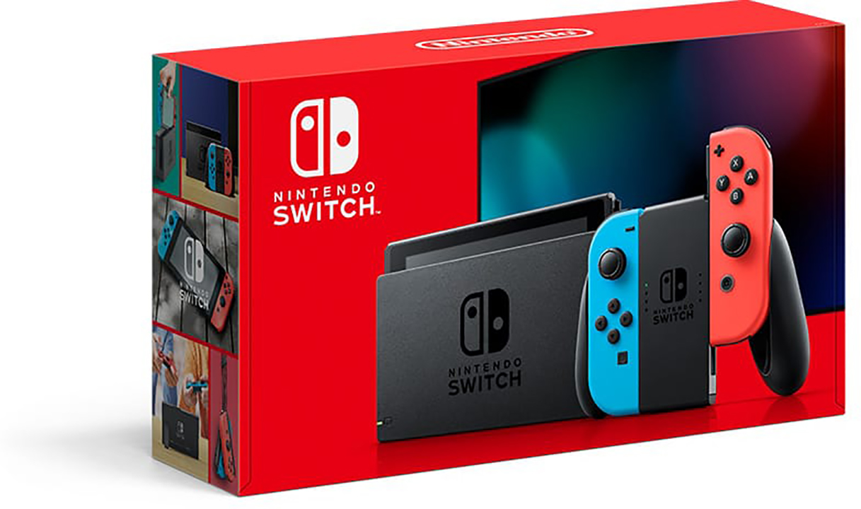 nintendo switch console neon