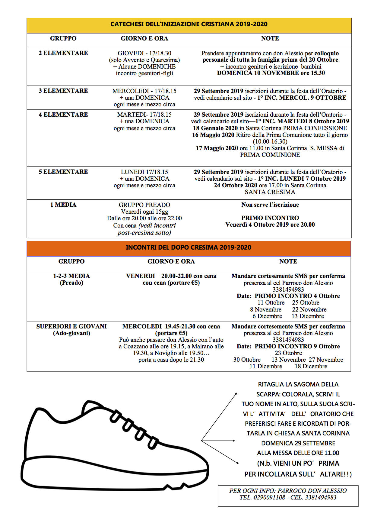 Calendario Pastorale 2020.Home Page