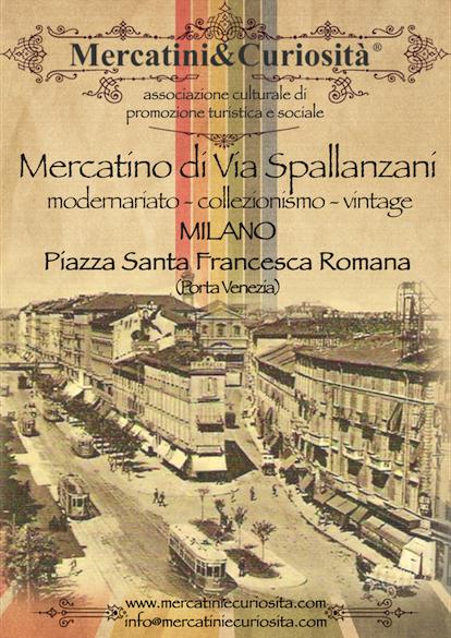 mercatino di via spallanzani bancarelle modernariato collezionismo vintage piazza santa francesca romana milano porta venezia