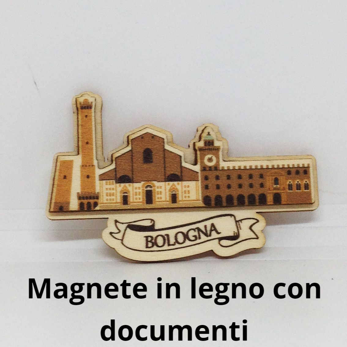Magnete in legno con documenti
