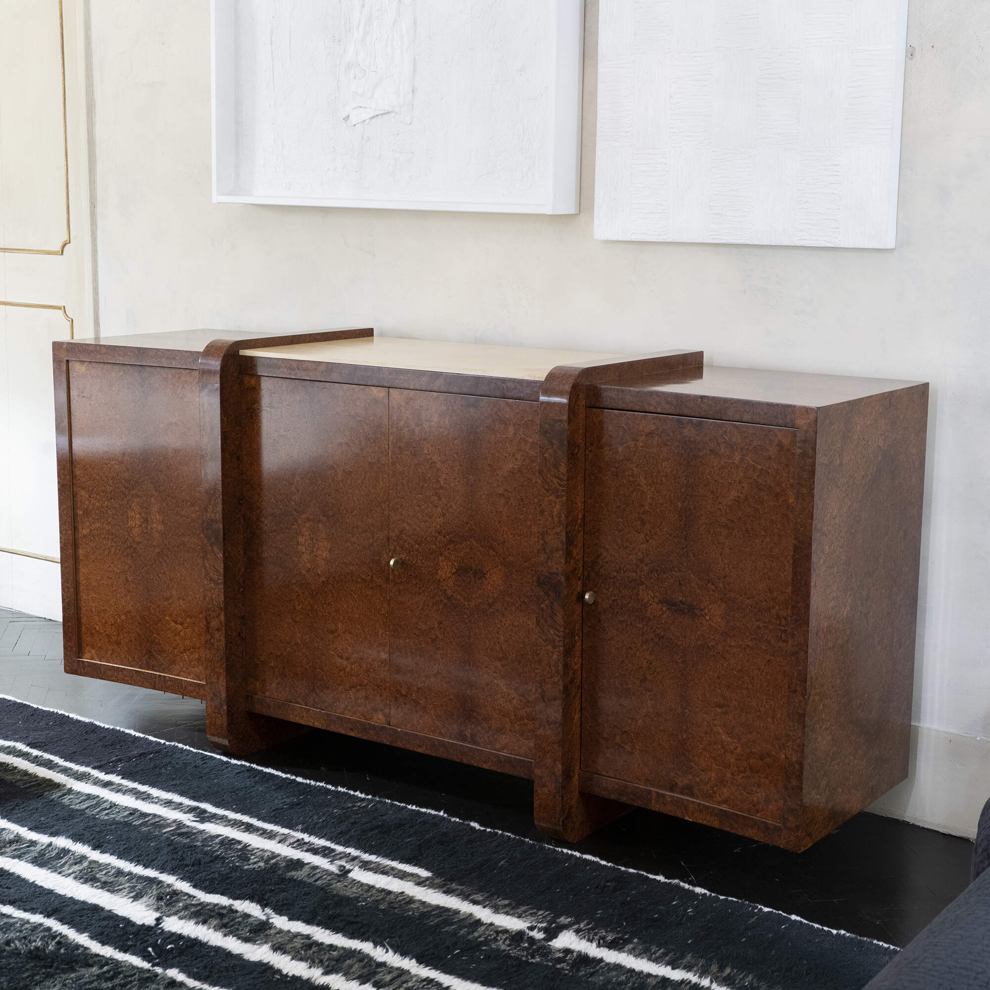 1930s French Sideboard in Thuya Burl Wood