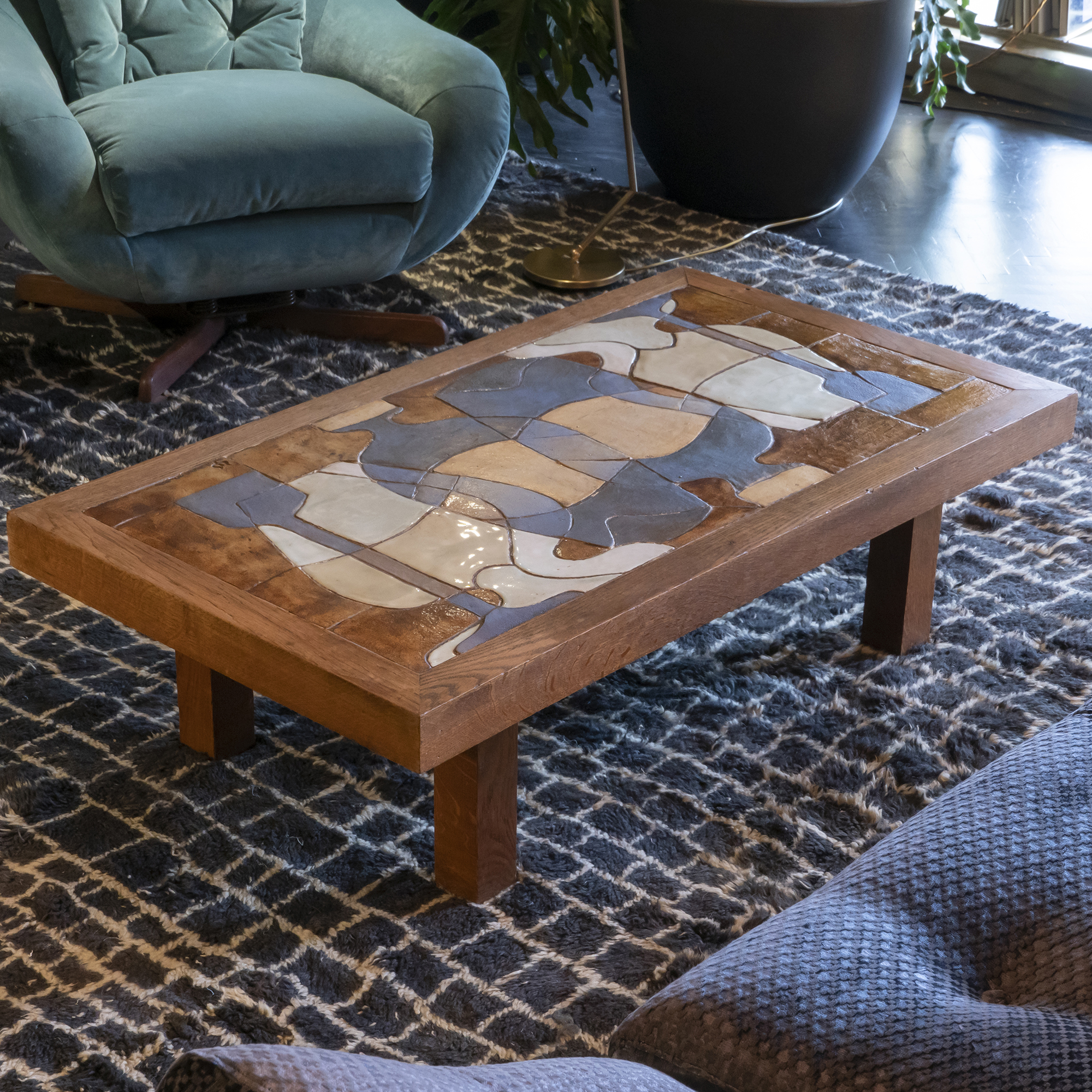 1960s Vallauris Coffee Table, France
