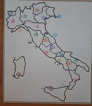 Cartina D Italia Con Capoluoghi Di Regione.Lapbook I Capoluoghi D Italia