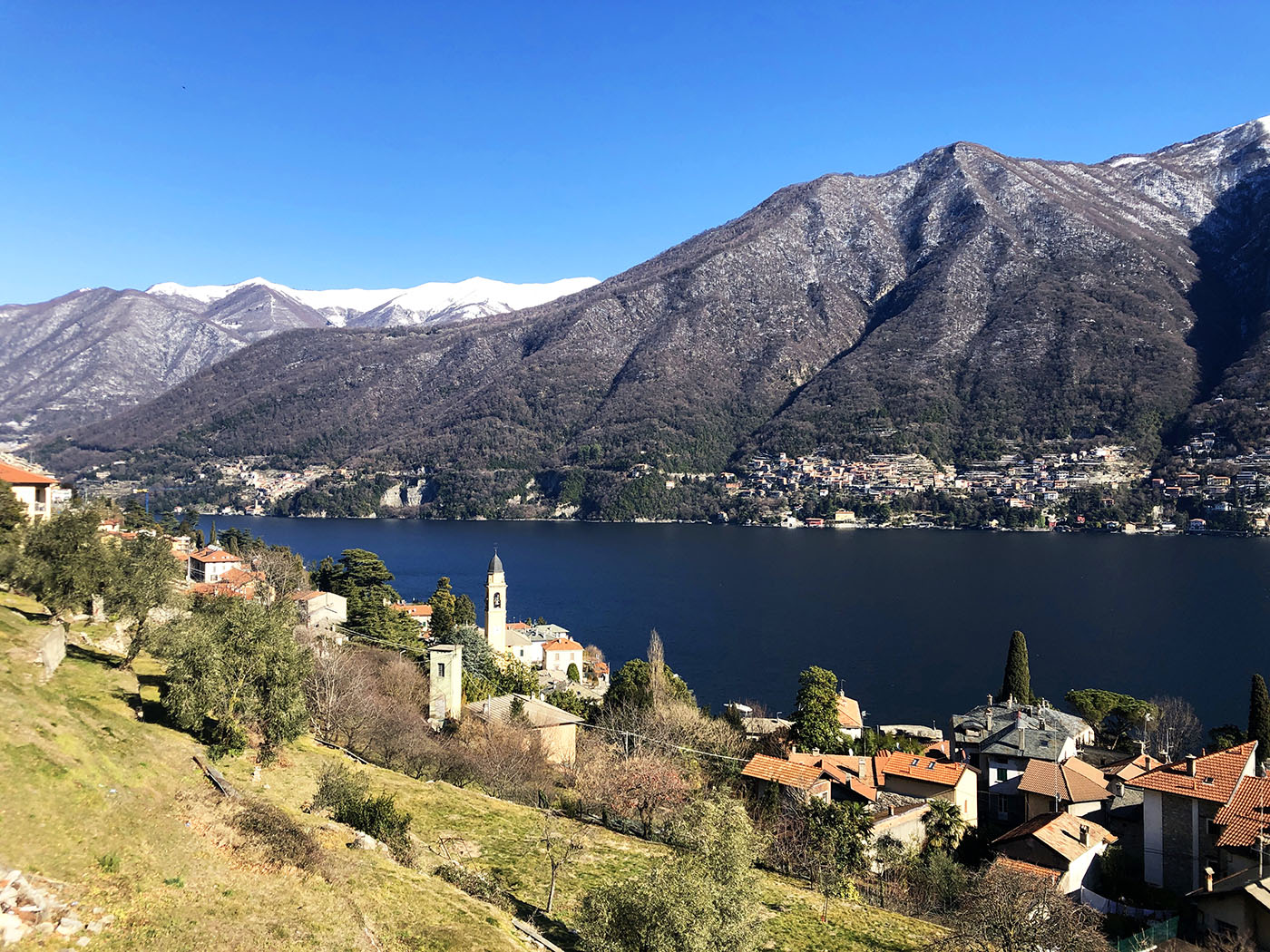 Lake Como view Laglio village cycling holidays