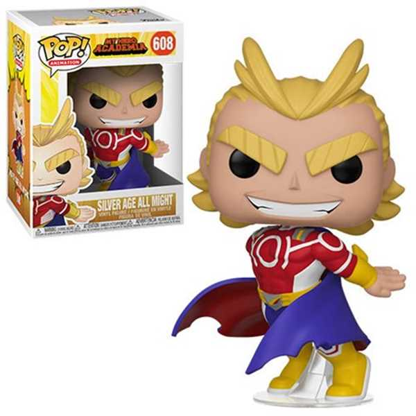FUNKO POP ALL MIGHT SILVER AGE #608 MY HERO ACADEMIA ANIMATION