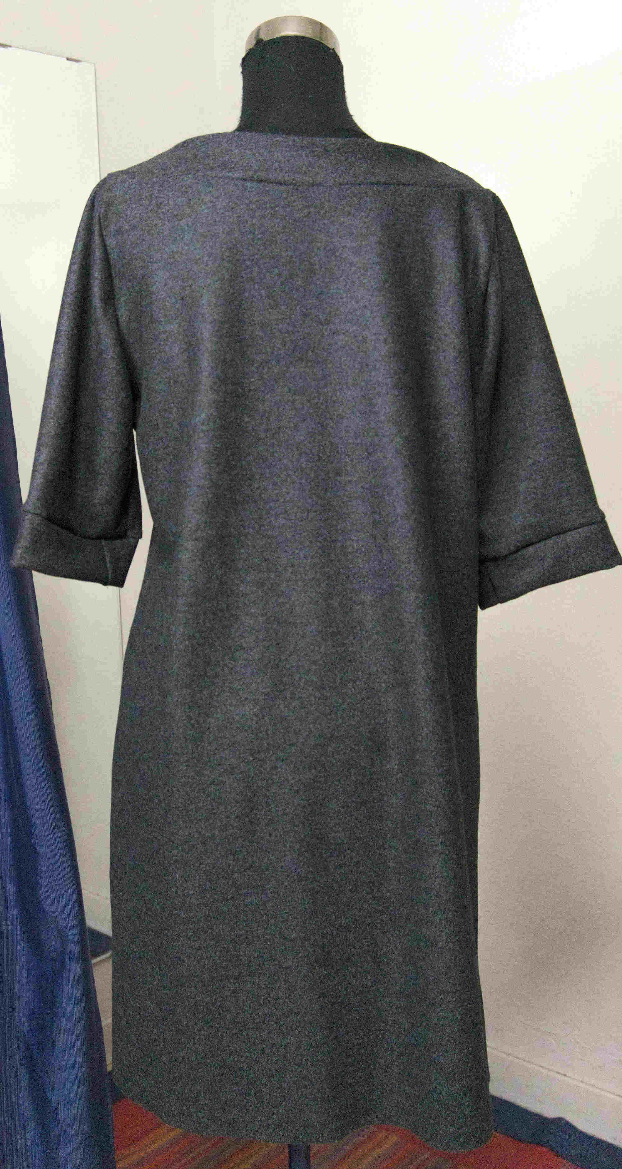 wool dress with sleeves