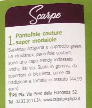 le friulane di calzature pli pla in seta o velluto sono in offerta grazie allinserzione su vivimilano del corriere della sera a Milanojpg