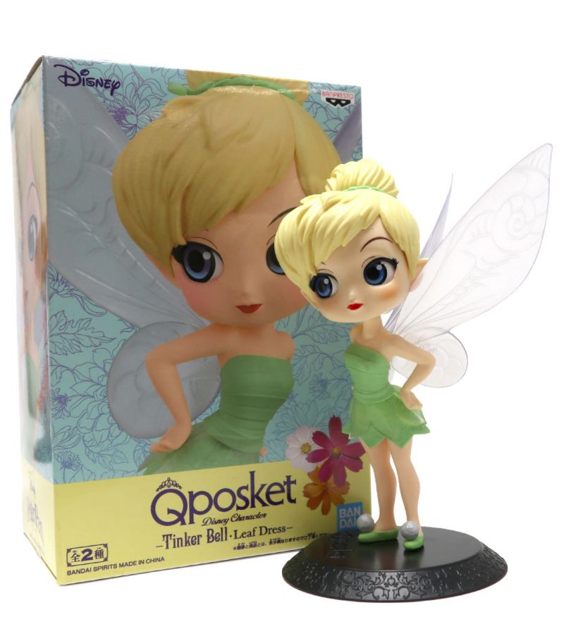 Q POSKET TINKER BELL LEAF DRESS VER. B - PETER PAN DISNEY BANPRESTO