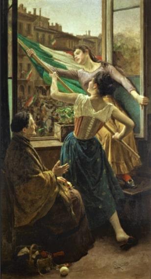 Fig 2 - Carlo Stragliati Episodio delle Cinque giornate di Milano in piazza SantAlessandro olio su tela forse prima del 1925 Milano Museo del R 4jpg