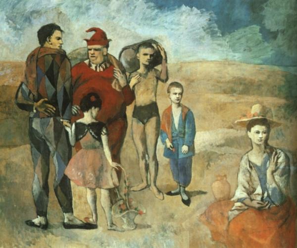 Picasso La famille de saltimbanques 1905jpg