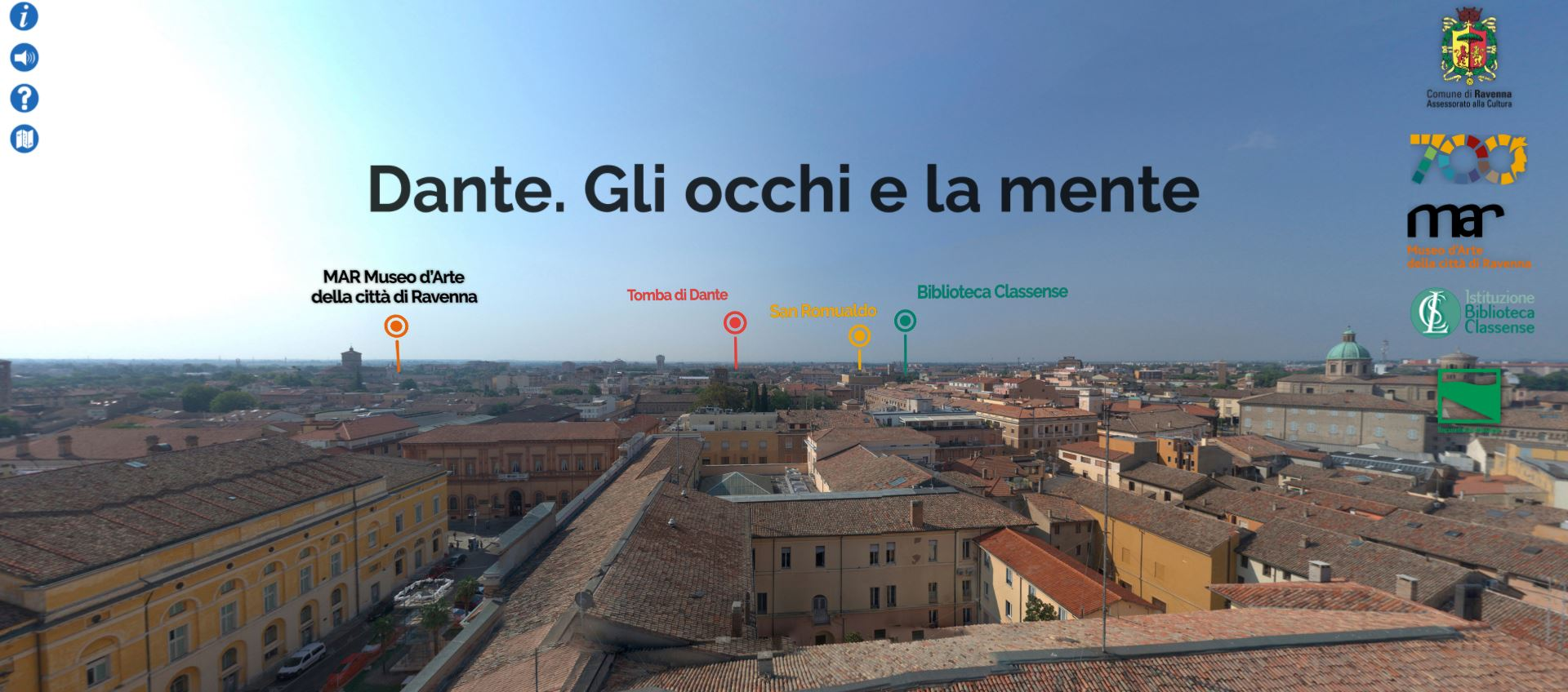 Dante a Ravenna, luoghi e versi in un virtual tour