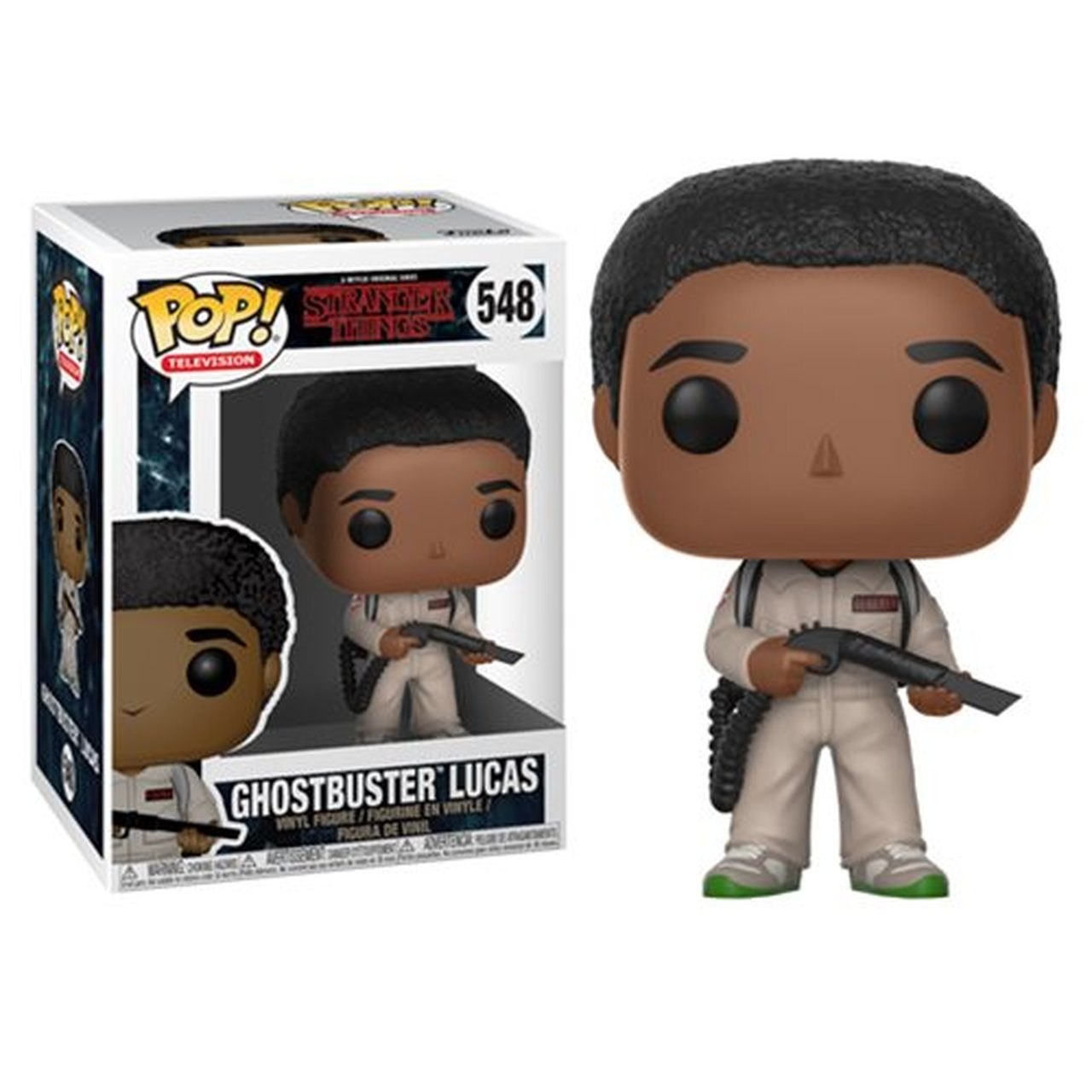FUNKO POP GHOSTBUSTER LUCAS #548 STANGER THINGS CALEB McLAUGHLIN
